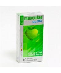 Презервативы Masculan Ultra - зеленое яблоко (10шт)
