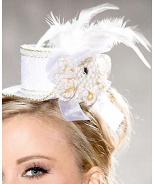 Белая мини шляпка «Варьете»