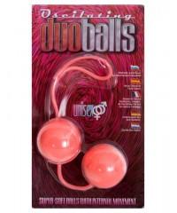 Мягкие розовые вагинальные шарики «Oscilating DuoBalls» (3,5 см)