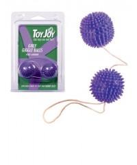 Фиолетовые вагинальные шарики «GIRLY GIGGLE BALLS» (3 см)