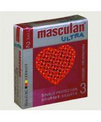 Презервативы Masculan Ultra двойная защита (3шт)