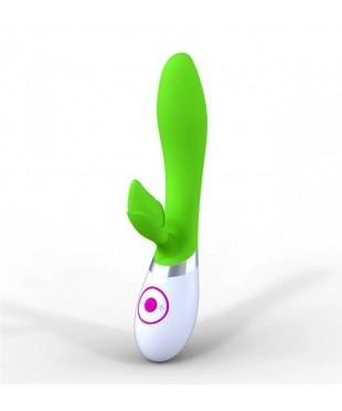 Вибратор «Rabbit» зеленый (13 см)