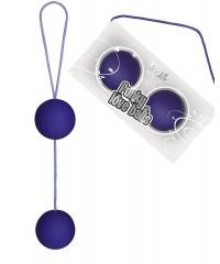 Фиолетовые вагинальные шарики «Funky Love Balls» (3,5 см)