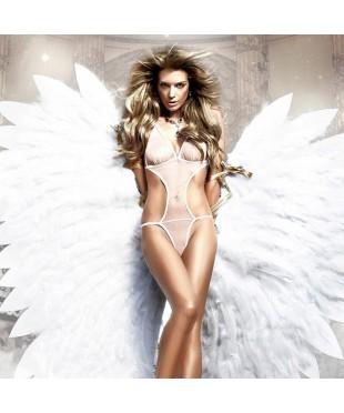 Белое боди «Back in Heaven»