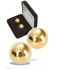 Вагинальные шарики под золото «Ben Wa Balls» (1.8 см)