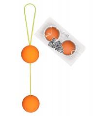 Оранжевые вагинальные шарики «Funky Love Balls» (3,5 см)