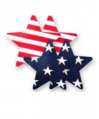 4 пары пэстис в форме звездочек «Американский флаг»